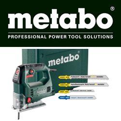 Metabo decoupeerzaag met zaagjes en opbergkoffer